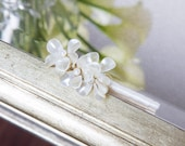 CLOSEOUT BOUTONNIERE - Ivory Pearl Flower Beaded Boutonniere - Prom Boutonniere - Dance Boutonniere