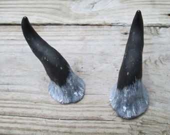 made to order costume horns, curved horns, lightweight, handmade, resin, wild thing, color choices