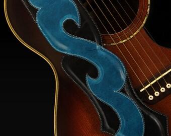 Leather Guitar Strap, Custom Guitar Strap : Voyager Guitar Strap