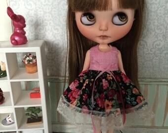 Blythe Dress - Pink and Black Floral