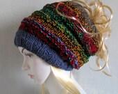 SALE *** Dreadlock Headband  Wide Hair Wrap Dreadlock Accesory  Dreadlock tube hat Colorful hat Scarf Acrylic bohemian knit hat