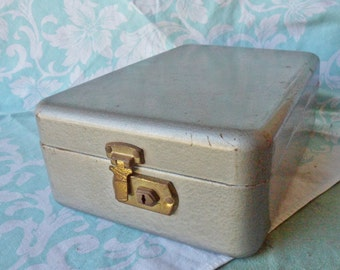 Mid Century Vintage Metal Index Card File Box