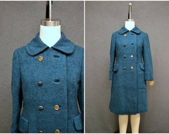1960s Bromleigh Green Tweed Coat