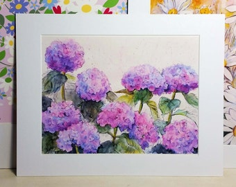 Hydrangeas Print 11 x 14