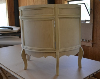 French Cottage Half Round Vanity