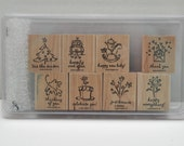Greetings Galore -- Stampin Up --  Eight Piece Set -- 2003  - Destash