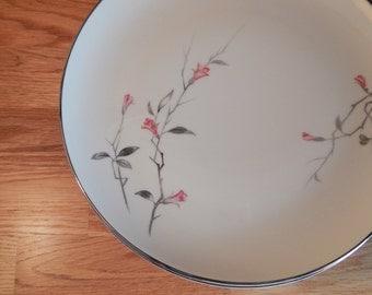 Vintage Cherry Blossom Fine China Dinner Plate