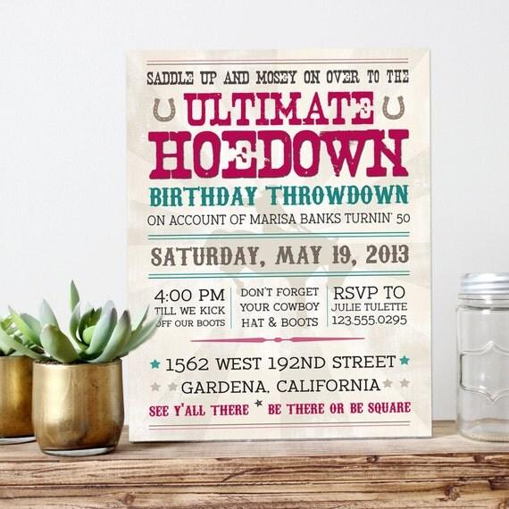 il_570xN.899687834_giqm vintage hoedown invitation ultimate hoedown throwdown,Hoedown Party Invitations