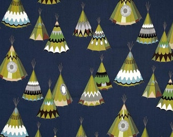 Changing Pad Cover - We See Teepees - Navy, Olive, Tee pees, Contoured, Baby Changer