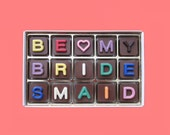 Ask Bridesmaid Proposal Gift Would Will You Be My Bridesmaid Gift Creative Funny Idea Way to Ask Invitation Jelly Bean Chocolate Cube Letter