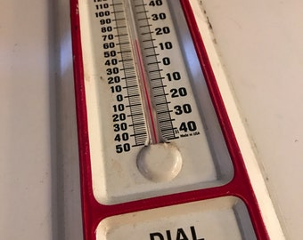 Vintage Metal Advertisment Thermometer. Thermometer. Wall Hanging Thermometer