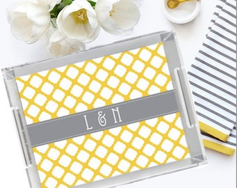 Lucite Tray - Personalized Tray - Wedding Gift - Hostess Gift - Home Decor - Vanity Tray - Monogram Tray - Monogrammed Tray