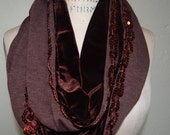 Brown Scarf, Infinity Scarves