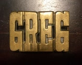 Greg Brass Belt Buckle