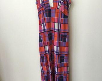 vintage 60s lightweight plaid dress