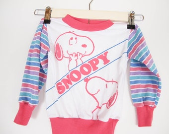 vintage girls SNOOPY long sleeve tee