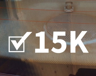 15K Decal, Runner Decal, 15K Car Decal, Marathon Decal, 15K Sticker, 15K, 15K Laptop Sticker, 15K Laptop Decal, Vinyl Decal, Track Decal