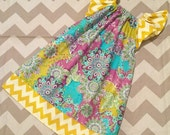 Peasant Style - Whimzical Butterfly Garden Chevron - Pick your size - Newborn 3 6 9 12 18 24 months 2 3 4 toddler 5 6 7 8 9 10 Years