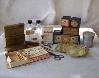 Vintage first aid supplies.   C2-247-5