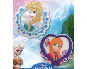 Disney Frozen Iron On Appliques  Elsa and Anna New In Package Disney's Frozen Embroidered Embellishment