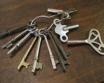3 Clock Keys and 8 Skeleton Keys