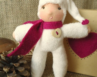 A Waldorf Inspired Just Because Gnome Toy Gift- Maroon