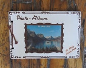 Vintage St. Mary Lake Glacier National Park Souvenir Photo Album Montana