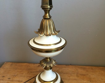 Vintage Stiffel Table Lamp Tall and Magnificent Hollywood Regency