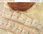 End of Summer French Inspired Ribbon, Vintage Rose Trim, Floral Ribbon Trim, Vintage Inspired Ribbon, Rose Ticking Trim Ribbon ECS