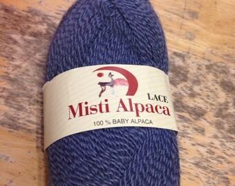 Misti Alpaca LACE in BLUE