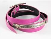 Love Teach Inspire Leather Wrap Bracelet | Teacher or Educator Gift