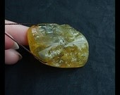 New AAA Hand polished Yellow Opal Nugget Bead,32x27x14mm,14.3g