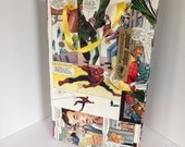 Spiderman Recycled Comic Book / Large gift bag / repurposed comic / upcycled gift bag