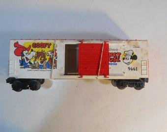 HTF LIONEL 6-9661 Mickey Mouse Express Goofy HI-Cube Box Car O Scale Loose
