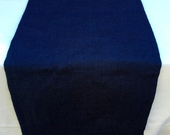 Burlap Table Runner, Navy Blue Burlap Runner, use for Wedding, Shower, Party, Home Decor, Custom Sizes Available