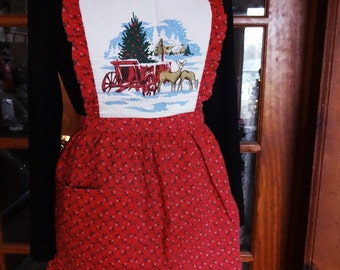 Child or Small Adult Christmas Full Apron