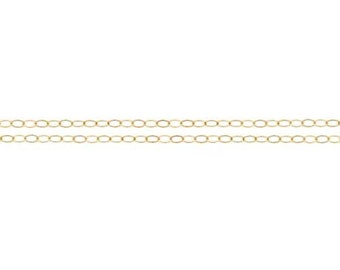 14kt Gold Filled 2 x 1.5mm Flat Cable Chain - 5ft (2346-5)/1