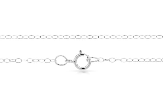 Sterling Silver 2x1.5mm 18 Inch Flat Cable Chain with clasp - 5pcs  (2711)