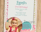 Kitty Birthday Invitation - with or without photo