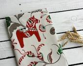 Swedish Horse Kitchen Towel, Dala Horse Tea Towel. Scandinavian Folk Dish Towel, Dala Horse Towel, Gift For Horse Lover