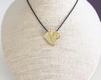 Bulldog necklace, Bulldog charm, Bulldog silouette, Brass dog necklace, pet memorial gift