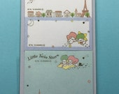 Cute Sanrio Little Twin Stars Sticky Note/Memo Pad/Note Pad From Japan
