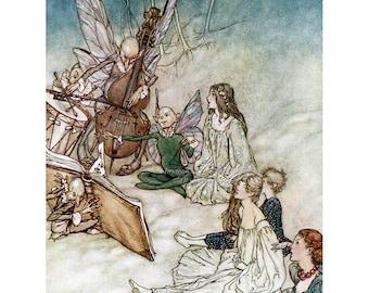 Fairy Greeting Card - Arthur Rackham - Faerie Song from Midsummer Night's Dream