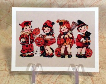 Halloween Magnets #2 - Choose From One of Five - Witches Cats Crows Pumpkin People