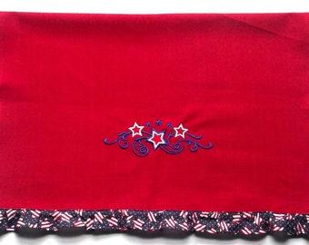 Stars and swirls kitchen towel