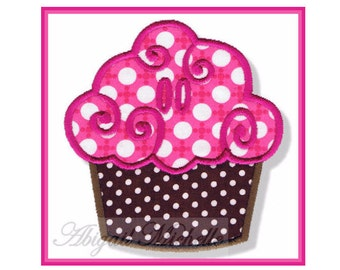 Cupcake Banner Add On - 3 Sizes, Machine Embroidery