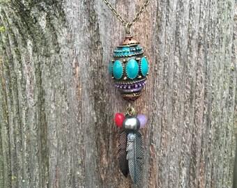 Gorgeous boho charm necklace