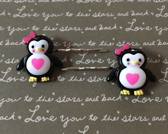 Adorable penguin bobby pins