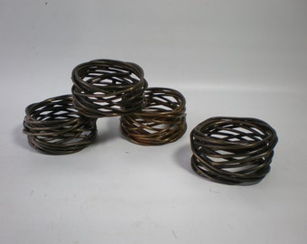 Vintage Metal Napkin Rings set of 4