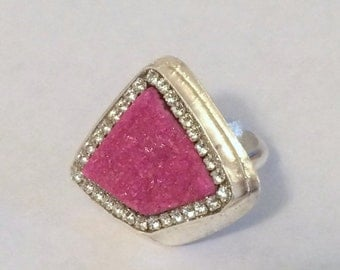 SUMMER SALE Pink Cobalto Calcite Sterling Silver Ring